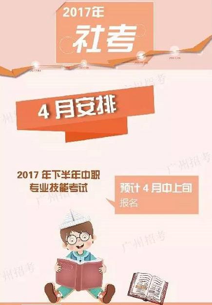 广东省中职专业技能考试预计4月中上旬可报